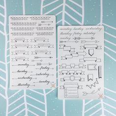 Ces jours dessinés à la main des bannières semaine sont le moyen idéal pour ajouter un peu de style à votre Journal de balle ou des pages quotidiennes de planificateur. Leur couleur pour correspondre à votre thème et ajouter du fun à vos pages ! Chaque autocollant feuille est imprimé sur du papier autocollant mat (pour coloration facile) et mesure 6,75 x 4.25. La taille idéale pour se glisser dans la poche de votre balle Journal, planificateur préféré ou de carnet de notes. Autocollants…