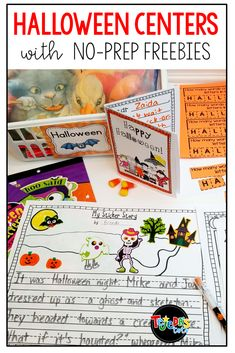I love these having centers at my Halloween or fall parties. Here are some ideas for easy, free, no-prep centers that are meaningful and fun! Perfect for the month of October! 1st Grade Activities, Halloween Activities, Holiday Activities, Halloween Worksheets, Phonics Activities, Free Activities, Classroom Activities, Theme Halloween, Halloween 2020