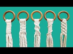 5 formas de empezar un PORTAMACETAS macrame (principiantes) | 5 Ways To Start a Macrame Plant Hanger - YouTube Macrame Wall Hanging Patterns, Macrame Plant Hangers, Macrame Patterns, Macrame Design, Macrame Art, Macrame Projects, Macrame Bracelet Tutorial, Friendship Bracelets Tutorial, Wall Plant Hanger