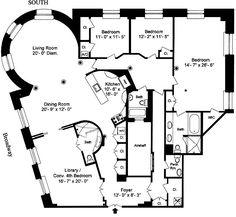 Floor Plan For An Apartment In The Dakota Apartment