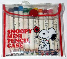 Mini Snoopy Pencils  were mostly useless, but that didn't stop me from writing notes with them!