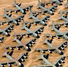 ~Plane BONEyard... Actually it's called an AMARC-Aviation Maintenance & Regeneration Facility. While most planes have been looming around for yrs. planes are being returned to service for US & other countries. There is a large maintenance facility on one side of the huge AF base that is always working on new arrivals & departures. The BONE YARD is a misconception. *