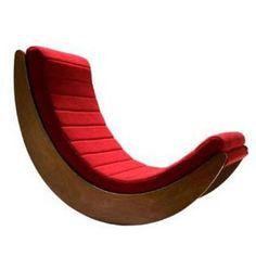Cadeiras de balanço de roupa nova. Designer Verner Panton