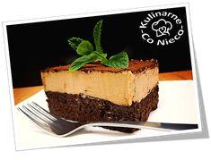 "Kulinarne ,,Co Nieco"" - blog kulinarny: Keto Brownie z Kremem Kawowym Keto Brownies, Desserts, Blog, Tailgate Desserts, Deserts, Postres, Blogging, Dessert, Plated Desserts"