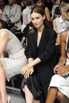 Rooney Mara Front Row at Calvin Klein Collection
