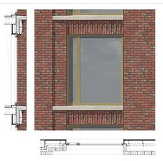 Brick detail by Maccreanor Lavington Architects - Connaught Hotels Architecture Tools, Detail Architecture, Architecture Graphics, Brick Masonry, Brick Facade, Modern Brick House, Brick Construction, Construction Drawings, Brick Detail