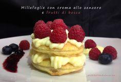 Millefoglie con crema allo zenzero e frutti di bosco http://architettandoincucina.blogspot.it/2015/03/millefoglie-alla-crema-di-zenzero-e.html
