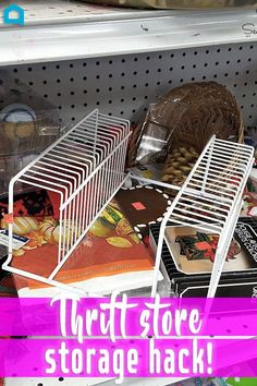 Finding a thrift store wire rack ASAP!
