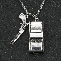 Supernatural Necklace Dean Winchester Colt Gun Sam Winchester Car Vintage Retro Antique Silver Pendant Movie Jewelry Wholesale