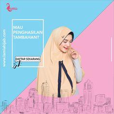 Assalamualaikum kak, mau PENGHASILAN TAMBAHAN? Yuk berjualan produk hijab dan Jadilah bagian dari indahnya berhijab bersama Lamia Hijab. Manfaatkan kesempatan ini, karena harga produk yang terjangkau, bahan kualitas premium, dengan gaya yang simpel namun tetap cantik dipakai. DAFTAR SEKARANG atau hubungi kami lewat Whatsapp: 085321111022 dan BBM: D76EC0AC