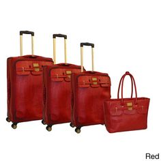 Adrienne Vittadini 4-piece Fashion Spinner Luggage Set | Overstock.com Shopping - Great Deals on Adrienne Vittadini Four-piece Sets