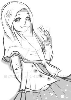 Hijab Drawinguntil we meet again, insya Allah by whitelead.deviant… on Hijab Drawing Source : until we meet again, insya Allah by whitelead. Deviantart Zeichnungen, Hijab Drawing, Islamic Cartoon, Hijab Cartoon, Islamic Girl, Girl Sketch, Character Drawing, Anime Art Girl, Cute Cartoon