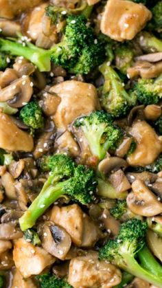 Chicken Broccoli and Mushroom Stir Fry ~ so tasty and much healthier than takeout! With out seasme seeds because I'm allergic Chicken Broccoli and Mushroom Stir Fry ~ so tasty and much healthier than takeout! With out seasme seeds because I'm allergic Asian Recipes, New Recipes, Dinner Recipes, Cooking Recipes, Healthy Recipes, Easy Cooking, Recipies, Dinner Ideas, Stir Fry Recipes