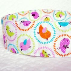 Spring Chick Fabric Headband Spring Colors by NewEnglandQuilter, $8.00