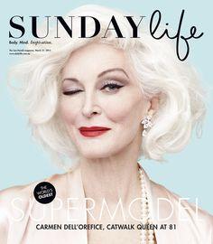 Gabrielle Revere photographed Carmen for the cover of Australia's Sunday Life Magazine