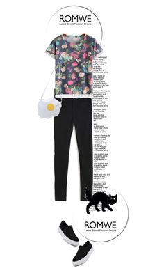"""""""Win this Denim Pant from Romwe!!!"""" by nukslucks ❤ liked on Polyvore featuring Oscar de la Renta and romwe"""