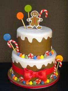 Gingerbread Man Cake By CakeMommyTX on CakeCentral.com