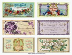 Magic Moonlight Free Images: Free French vintage labels ~ Collage for You!