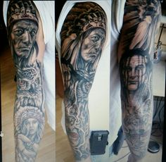 Native American Indian sleeve