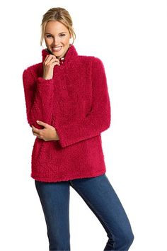 Women - Capture Fluffy Button Fleece