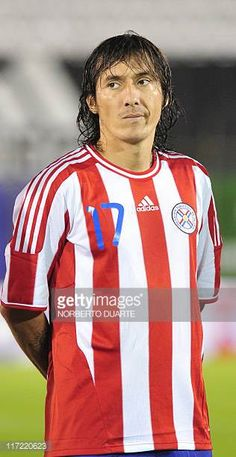 Paraguay's national football team player Aureliano Torres before their friendly match against Chile in Asuncion on June 23 2011 AFP PHOTO Norberto...
