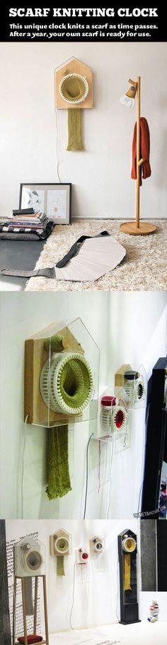 Clock Knitting Scarf