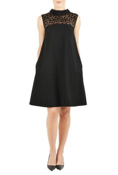 LBD, animal print dresses, black, black dresses, embroided dresses, embroidered, EVENING DRESS, Evening Dresses, little black dress, Little Black Dresses, PARTY DRESS, party dresses, sleeveless dresses, trapeze dresses