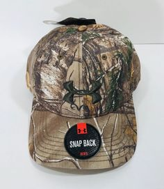 bc2dfd8801e New Under Armour Mens Full Camo Realtree AP Xtra Snapback Hat Cap  1238885-947