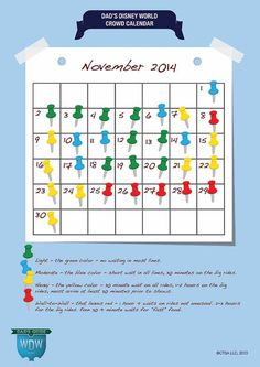 Dad's November 2014 Disney World Crowds Calendar