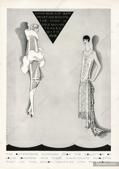 Louiseboulanger 1927 Raymond Loewy, Fox Coat, Evening Gown