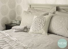 Coco Jacquard Bedlinen, Dove Grey, for Loft Conversion Bedroom. Awesome Bedrooms, Beautiful Bedrooms, Laura Ashley, Loft Conversion Bedroom, Cosy Bed, Fancy Houses, Childrens Room Decor, Home Bedroom, Bedroom Ideas