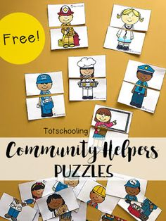 Community Helpers Emergent Reader | Totschooling - Toddler and Preschool Educational Printable Activities