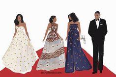 Michelle Obama Flotus, Malia Obama, Barack And Michelle, Barack Obama, Strapless Dress Formal, Prom Dresses, Summer Dresses, Formal Dresses, Stunningly Beautiful