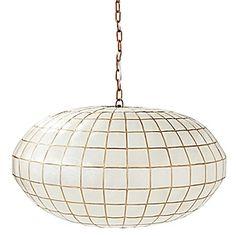 Capiz Globe Chandelier, Found on Savvyhomeblog.com