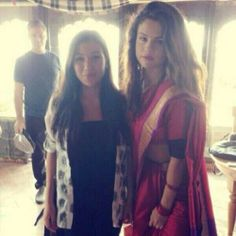 May 23: Another photo of Selena wearing her Sari in Nepal