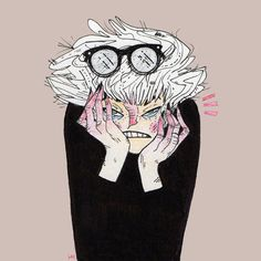 Grumble Grumble ….. Sometimes you cant draw anything but your own frustrations. #DamnIt #heathermahlerart #SelfPortrait