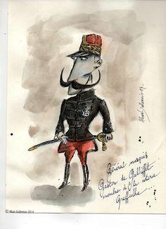 © Alban Guillemois - Portrait marquis Gaston de Gallifet #albanguillemois #artiste #france #marquisdegalliffet #arméefrançaise #paris #militaire #marcelproust #saintcyr