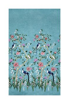 From Michael Miller, this floral cotton print fabric is perfect for apparel, quilting, and home decor accents. Colors include shades pink, shades of purple, shades of green, tan, beige, and white on a tonal blue aqua background.