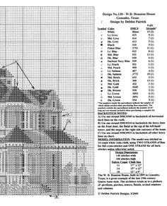 HOUSTON HOUSE 02 Cross Stitching, Cross Stitch Embroidery, Houston Houses, Cross Stitch House, Victorian Homes, Gallery, Crossstitch, Design, House 2
