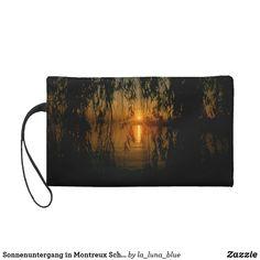Sonnenuntergang in Montreux Schweiz Wristlet Handtasche Mugs, La Luna, Map Invitation, Sunset, Abstract Art, Handbags, Simple, Nice Asses, Photo Illustration