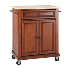 [ Solid Black Granite Top Portable Kitchen Cart Island Classic Cherry Crosley Furniture Stainless Steel Optional ] - Best Free Home Design Idea & Inspiration Portable Kitchen Island, Kitchen Island Cart, Kitchen Islands, Kitchen Carts, Kitchen Ideas, Compact Kitchen, Kitchen Tables, Kitchen Decor, Kitchen Tips
