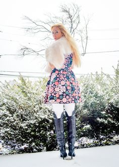 Blushing Prints in the Snow*