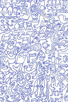 Poolga - Blue Mural - Judy Kaufmann