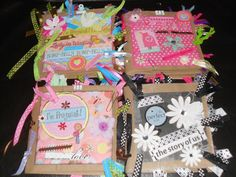 Handmade Premade Paperbag Scrapbook Album Custom Made Special Order Pregnancy Wedding Friends Family. $15.00, via Etsy.