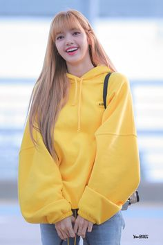 Lisa One Of The Best And New Wallpaper Collection. Lisa Blackpink Most Famous Popular And Cute Wallpaper Photo And Image Collection By WaoFam. Blackpink Lisa, Jennie Blackpink, Yellow Hoodie, Yellow Sweater, Incheon, Jenny Kim, Lisa Blackpink Wallpaper, Black Pink, Kim Jisoo