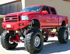 My truck!!!!!!!!!!! Look at those tires?? And that lift!!!! Amazing! Just needs a different grill and some smokestacks