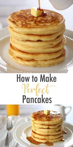 Sweet Pancake Recipe, Pancake Recipie, Pancakes Recipe Video, Recipe For Fluffy Pancakes, Homemade Pancake Recipes, Healthy Pancake Recipe, Best Pancake Recipe Ever, Homemade Pancakes Fluffy, Light And Fluffy Pancakes