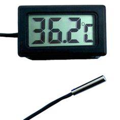 Numérique LCD Sonde Thermomètre Réfrigérateur Aquarium Congélateur Thermographe Pour Réfrigérateur-50 ~ 110 Degrés 20mm Sonde Étanche P10