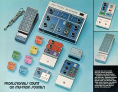 Vintage Effect Pedals by Mutronics (used by Stevie Wonder, Bootsy Collins, Jerry Garcia and many others)[630x493] #design #music via http://www.reddit.com/r/DesignPorn/comments/1z1b7d/vintage_effect_pedals_by_mutronics_used_by_stevie/