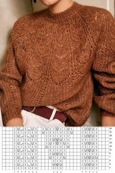 Beanie Knitting Patterns Free, Knit Vest Pattern, Knitting Charts, Sweater Knitting Patterns, Lace Knitting, Knitting Designs, Crochet Yarn, Lace Sweater, Hand Knitted Sweaters